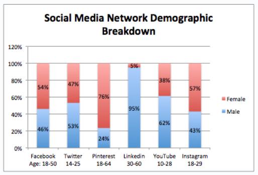 Social Media Network Demographic Breakdown